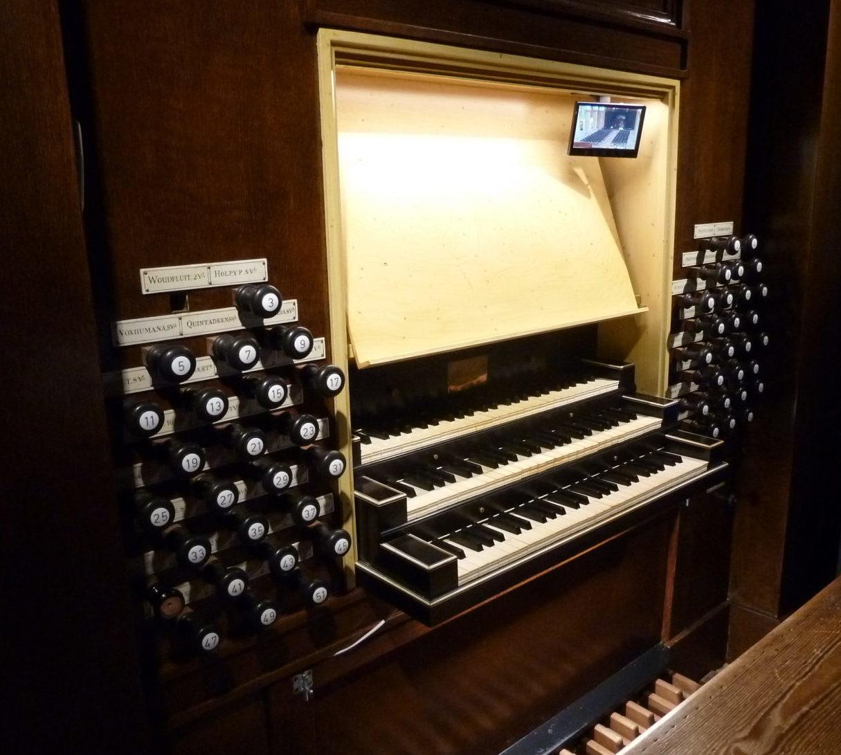orgel nieuwe kerk delft speeltafel